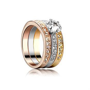 Fashion Italina Red Apple 3 colors Plated 'Three in one' Rings-in Rings from Jewelry on Aliexpress.com