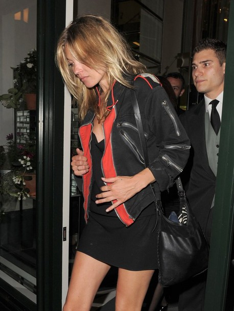 jacket black jacket with red black jacket washed out jacket kate moss