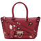 Valentino - small valentino garavani demilune tote - women - leather - one size, red, leather