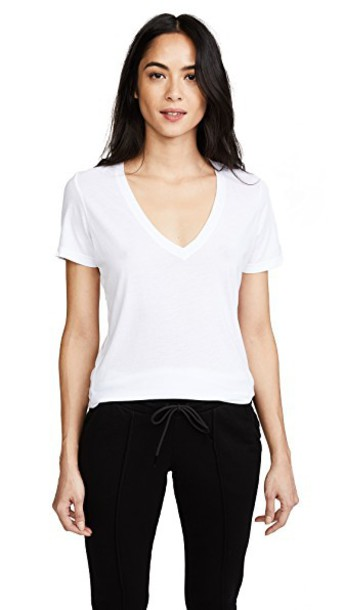 Cotton Citizen classic v neck white top