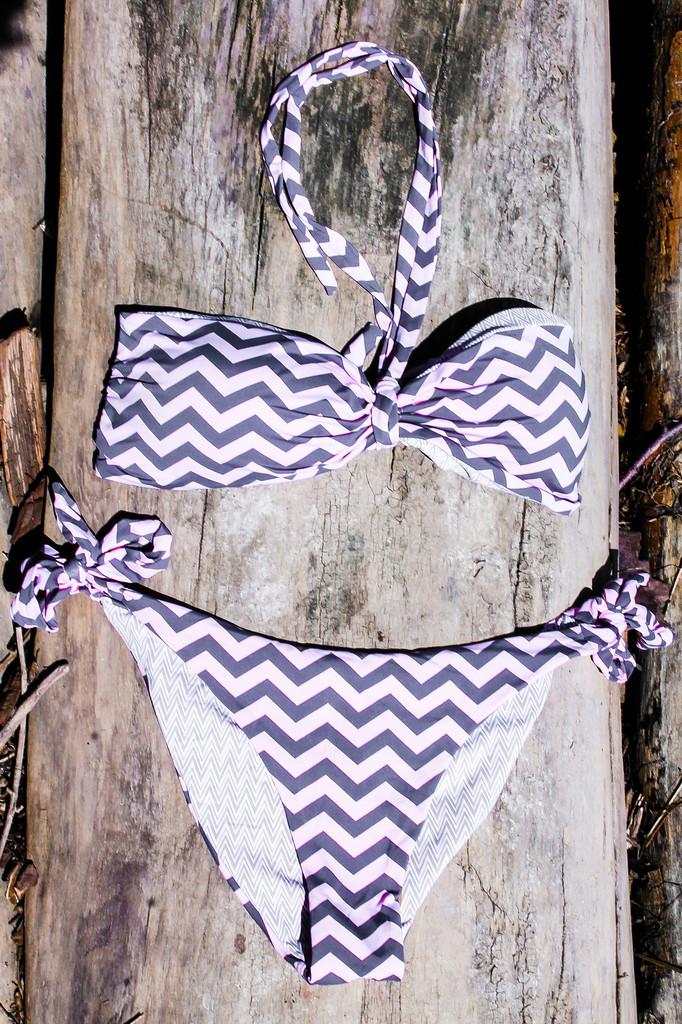 Sandy beach chevron bikini