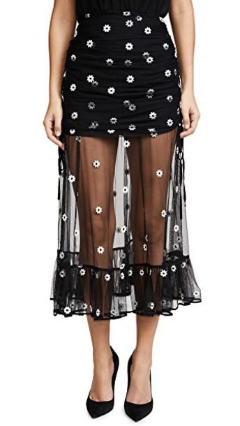 Alice McCall skirt lady daisy black