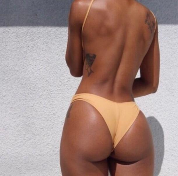 underwear thong panties panties mustard