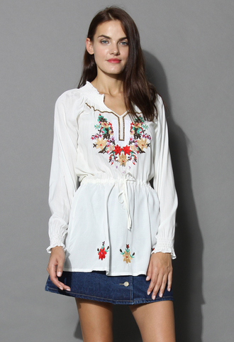 dress flair folk embroidered tunic chicwish boho tunic summer