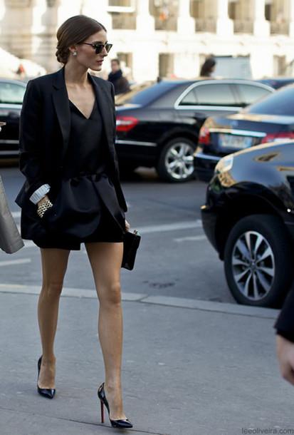 skirt olivia palermi dress jumpsuit black blazer jaket shoes jumpsuit shorts