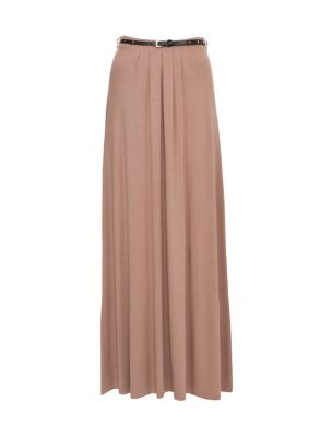 Biscuit stud belt jersey maxi skirt