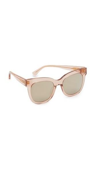 sunglasses gold black peach