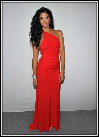 camila alves dress red backless