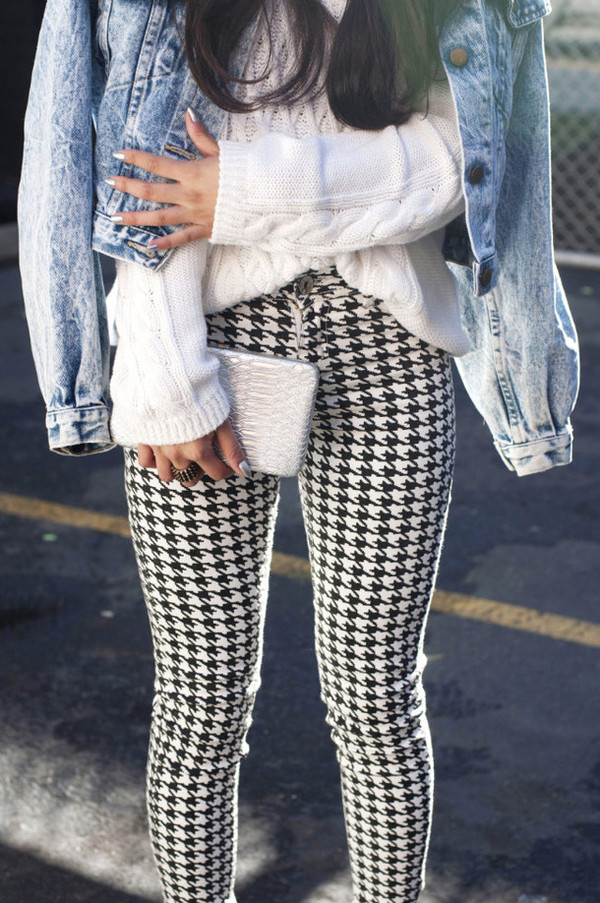 jeans aztec leggings leggings black and white pants sweater jacket