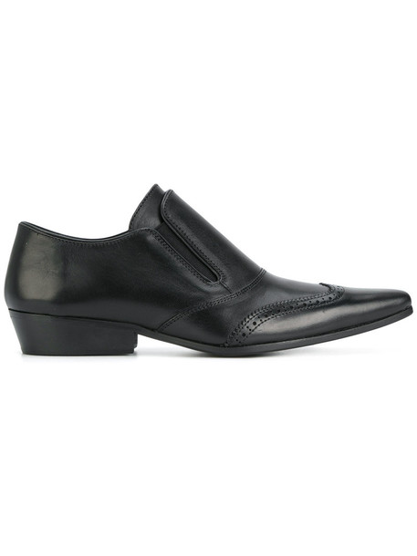 Haider Ackermann women embellished loafers leather black shoes