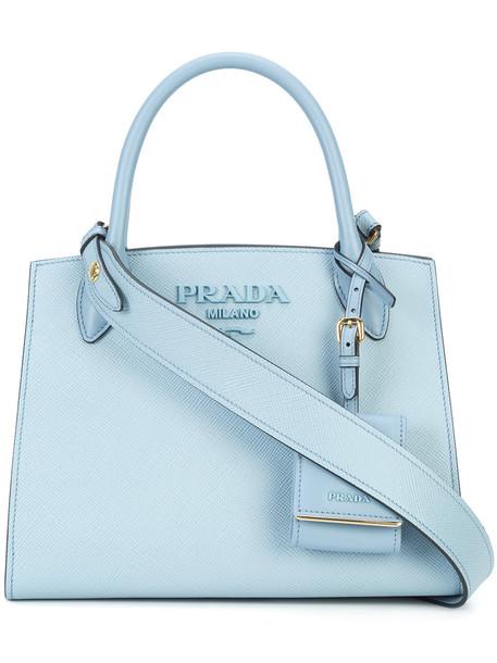 Prada women bag tote bag leather blue