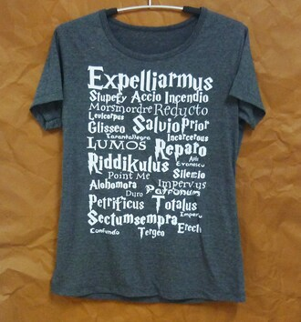 t-shirt expelliarmus shirt harry potter clothes short sleeve crewneck women shirts teen girl shirt workout shirt clothes apparel outfit cute tshirt