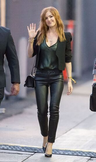 pants top isla fisher blazer all black everything