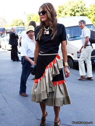t-shirt anna dello russo blouse skirt