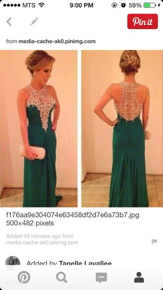 green dress sparkly dress jewels v neck dress