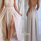 Simple a-line backless chiffon long prom dresses, formal dresses - 24prom
