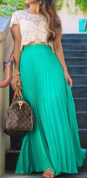pinterest blouse skirt clothes lace shirt maxi skirt