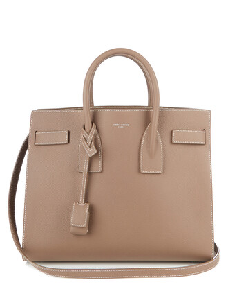 leather beige bag