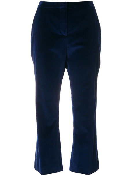 Altuzarra women spandex cotton blue pants