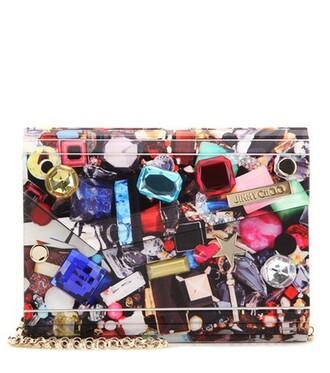 embellished candy clutch bag