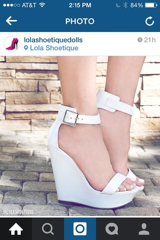 shoes white shoes white high heel wedges white high heels