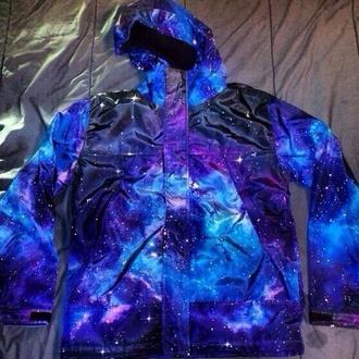 jacket galaxy jacket galaxy coat galaxy top galaxy print raincoat windbreaker