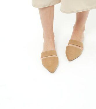 shoes mules cut out shoes flat sandals
