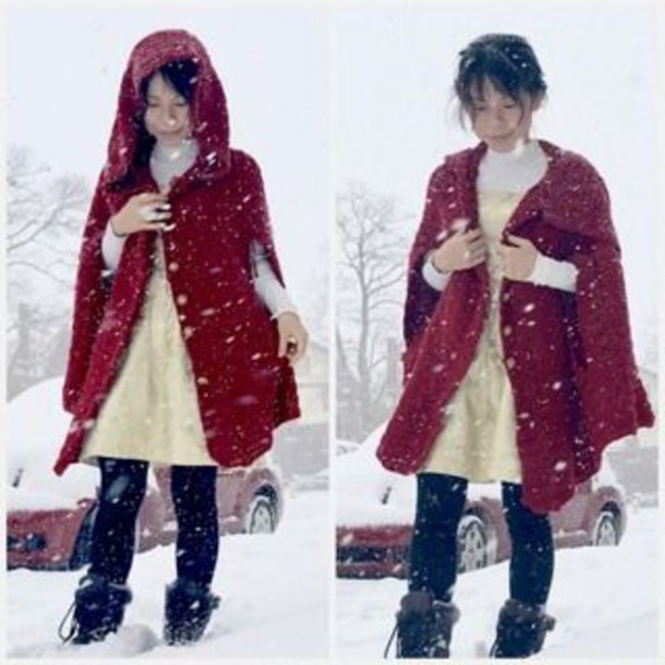coat jacket skirt shirt snow boots hooded winter coat hooded jacket red coat winter coat