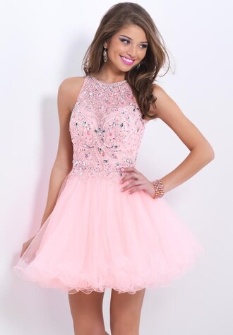 backless a-line wish.com prom dresses pink beading prom gown o-neck dress pink women dress