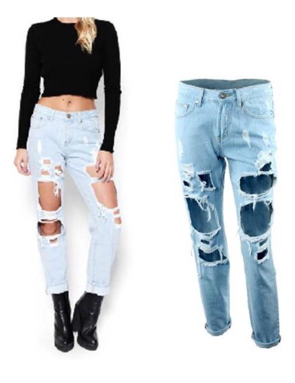 jeans ripped denim boyfriend jeans ripped denim