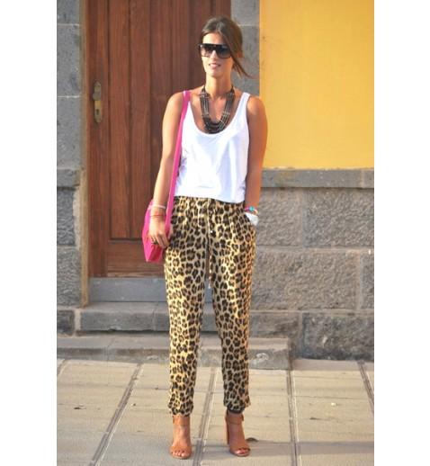 Leopard Loose Fit Pants - Pants - Bottoms - Clothing