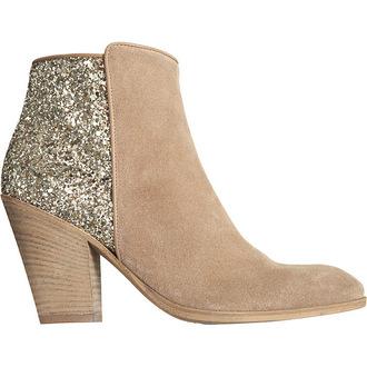 shoes beige boots glitter boots barneys glitter