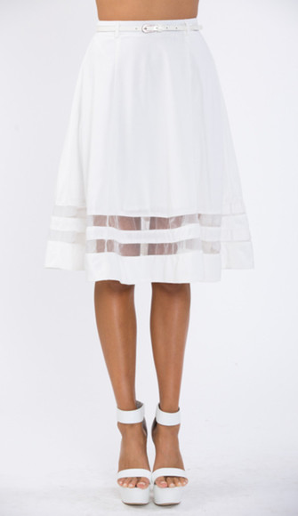 retro skirt retro skirt midi skirt white white skirt black skirt Belt