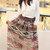 Brown Aztec Chiffon Maxi Skirt /Boho Skirt Maxi/Circle Skirt/Long Skirt Maxi/Tulle Skirt Women/Bohemian Skirt Maxi