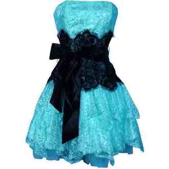 dress prom dress party dress blue lace sleeveless dress ruffles