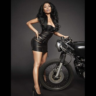 dress nicki minaj black