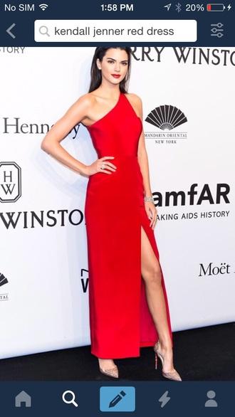 dress kendall jenner red carpet dress red dress