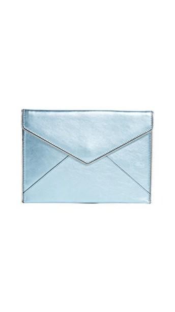 Rebecca Minkoff clutch metallic grey bag