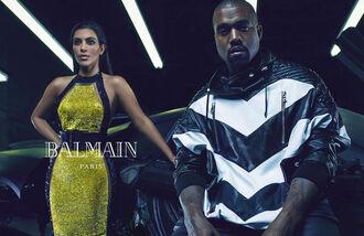 dress bodycon dress balmain kanye west kim kardashian chevron black and white glitter dress gold halter neck