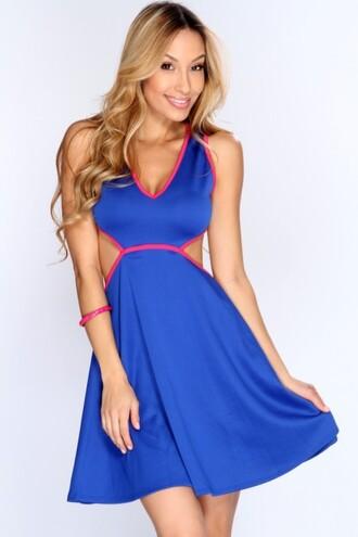 a line dress royal blue dress sexy dress casual dress short dress amiclubwear clothing amiclubwear dresses dress
