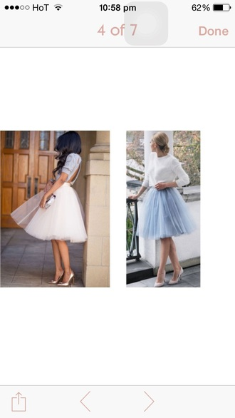 skirt pastel tulle skirt blue light pink love