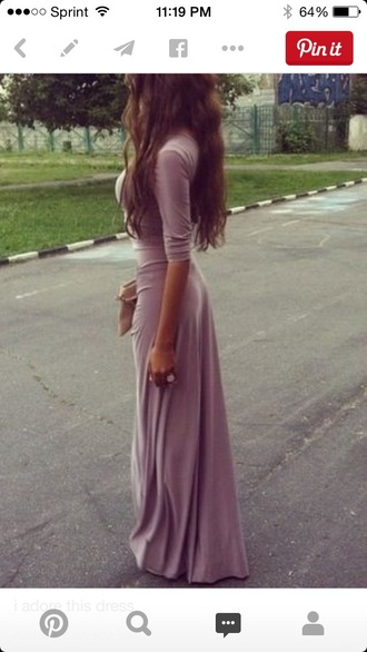 dress purple dress long sleeve dress maxi dress maxi jersey dress