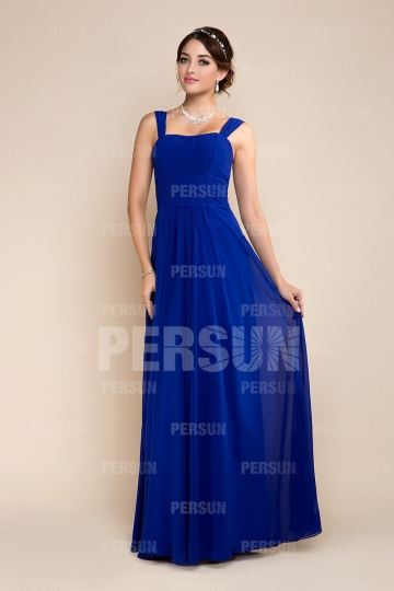Empire Strap Sleeveless Pleats Blue tone Bridesmaid dress [ZHY248]- US$ 135.99 - PersunMall.com