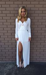 White Del Rio Long Sleeve Maxi Dress                           | Dainty Hooligan Boutique
