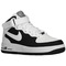 Nike air force 1 mid - boys' grade school - basketball - shoes - black/game royal/white