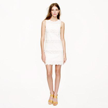 Lace-stripe dress