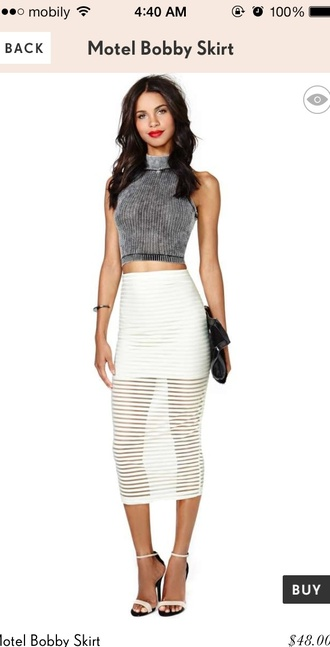 skirt black and white cute skirt and blouse nastygal perfect outfit inlove