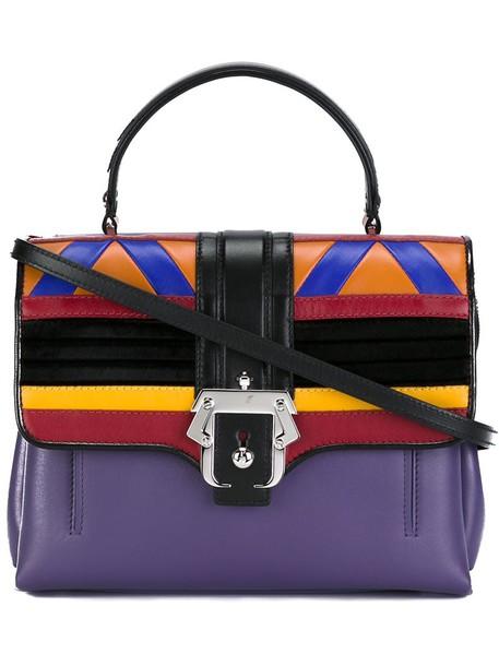 PAULA CADEMARTORI satchel women geometric leather purple pink bag