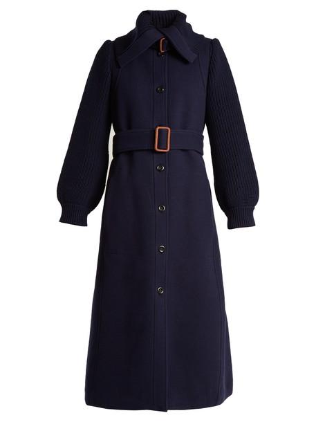 Chloe coat wool blue