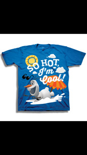 t-shirt,frozen,olaf,i'm so cool